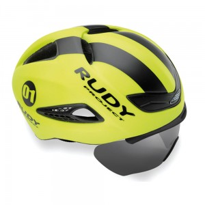 Kask czasowy Rudy Project Boost 01 optical shield - żółty fluo