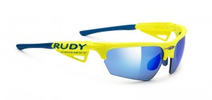 Rudy Project Noyz Racing Pro Yellow Fluo Multilaser Blue