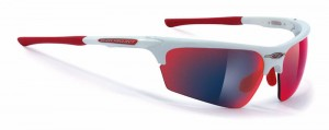 Rudy Project Noyz White Multilaser Red okulary multisportowe