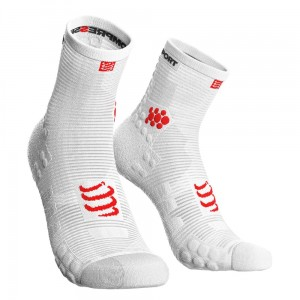 Skarpety COMPRESSPORT ProRacing Socks High V3.0 białe