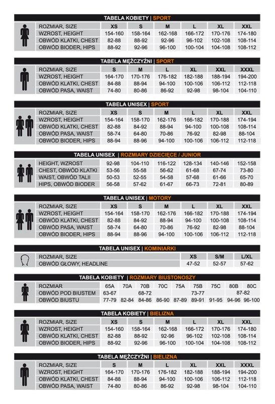 tabela rozmiarów brubeck