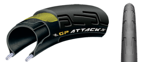 Continental GP Attack + Force BlackChilli zestaw 2 opon czarne