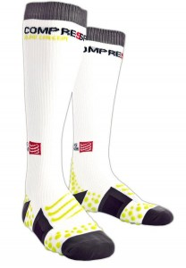 Compressport Full Socks - skarpety kompresyjne białe