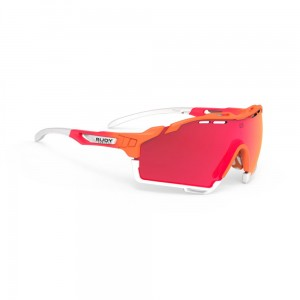 Okulary multisportowe Rudy Project Cutline Mandarin Fade Coral Matte Multilaser Red
