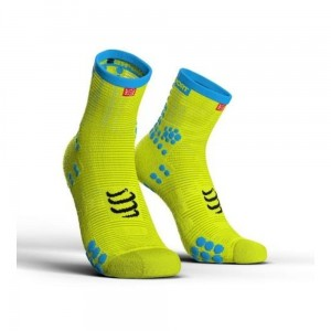 Skarpety COMPRESSPORT ProRacing Socks High V3.0 żółte fluo
