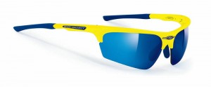 Rudy Project Noyz Yellow Fluo Multilaser Blue okulary multisportowe