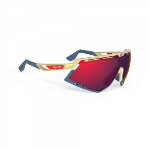Okulary rowerowe Rudy Project Defender RP Optics Multilaser Red złote