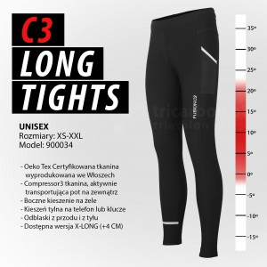 Fusion C3 Long Tights - spodnie do biegania unisex
